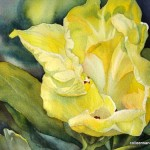 Contemporary Tropical Floral Watercolor Painting Colleen Sanchez