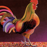 Copper Rooster Painting Bob Coonts Fine Art Prints