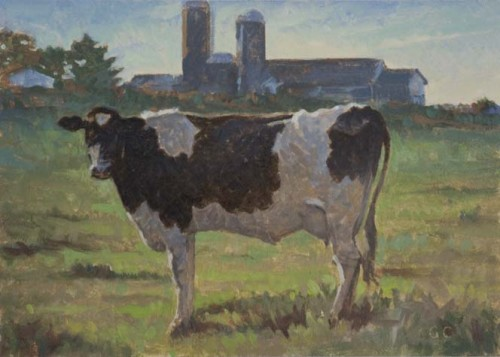Cow And Barn Cooley Art Gallery