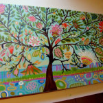Creative Life Tree Landscape Painting