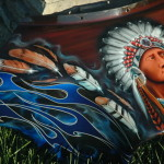 Custom Airbrush Paint Indian Native American Motorcycle Designs Bad