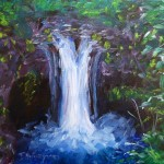 Custom Made Oil Painting Beautiful Waterfall Fine Art
