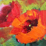 Daily Painters Abstract Gallery Poppies Contemporary Floral Paintings