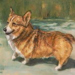 Daily Painting Projects Smiling Corgi Oil Welsh Dog Art Pet