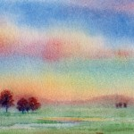 Daily Paintings After The Storm Sold Watercolor Landscape Painting