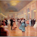Dance Oil Painting Elegant Soiree Reproductions