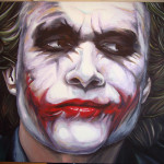 Dark Knight Joker Face Paint Custom Painting Oil