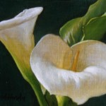 David Hardy Calla Lily Duo Painting Anysize Off