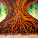 Dawn Waters Baker Tree Life Painting Sold