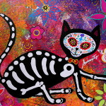 Day The Dead Painting Gato Fine Art Print