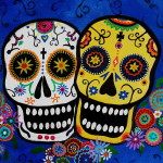 Day The Dead Sugar Painting Fine Art Print