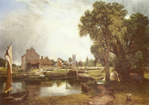 Dedham Mill Painting John Constable Oil