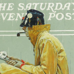 Detail Norman Rockwell Painting Sport Which Appeared