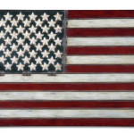 Details About Decorative Hand Forged Metal American Flag Wall Art New