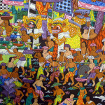 Details About Hand Painting Balinese Bali Barong Dance Island Life