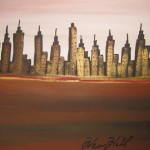 Details About Henry Hill Goodfella Original Painting Nyc Skyline Hot
