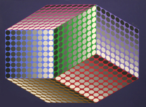 Details About Victor Vasarely Togonne Seri Kinetic Optical Art
