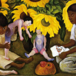 Diego Rivera Sunflowers Oil Canvas The