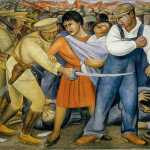 Diego Rivera The Uprising Fresco Reinforced Cement