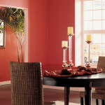 Dining Room Paint Color Large Space House Decorating