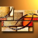 Discount Abstract Panel Canvas Art Oil Painting Framed Wall