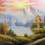 Discount Oil Paintings Landscape Painting Frameless