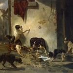 Dog Carrying Dinner Its Master Fable Fontaine Painting