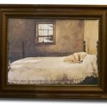 Dog Sleeping Watercolor Bed Picture