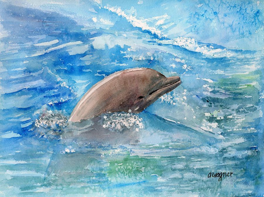 Dolphin Painting Arline Wagner Fine Art Prints And