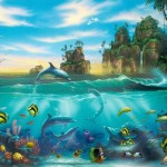 Dolphin Painting Ocean Color