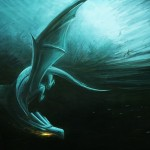 Dragon Painting Fledglings Playing Storm