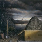 Dramatic Contemporary Landscape Paintings Rob Evans Art Day