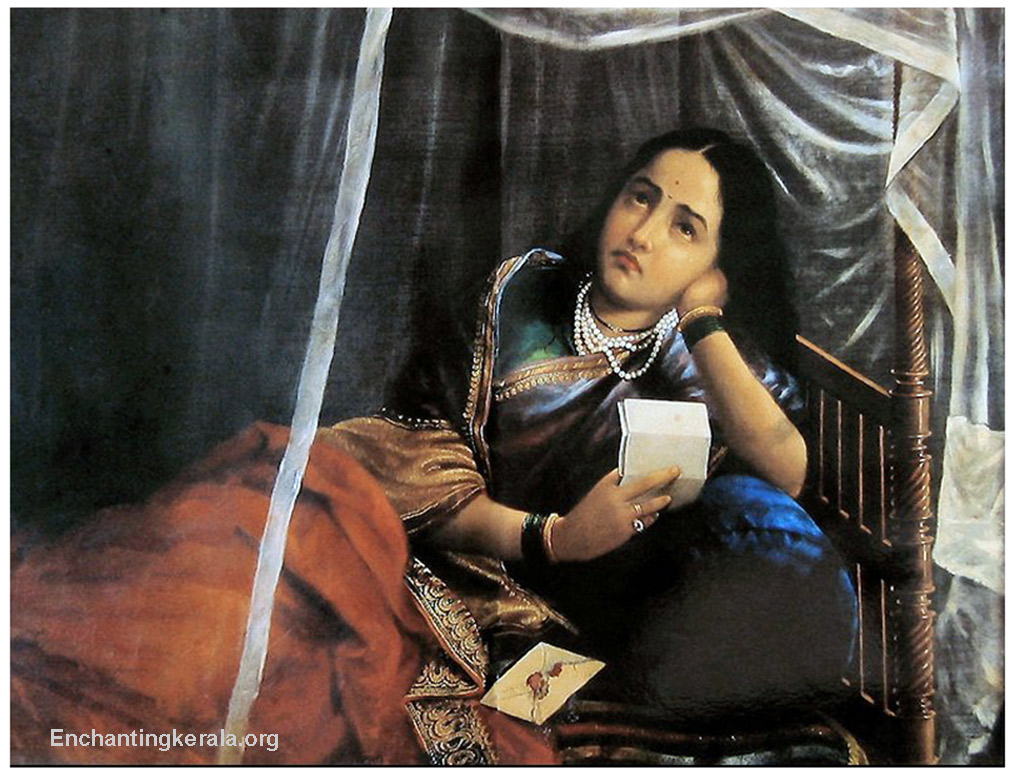 Dreams Raja Ravi Varma Arts Indian Art Paintings