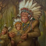 Dressing Monkey From Fine Art Manufacturer Oil Painting Reproduction