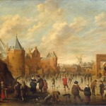Dutch Town Painting Droochsloot Jost Cornelisz Oil