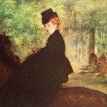 Edouard Manet Paintings The Horsewoman Painting