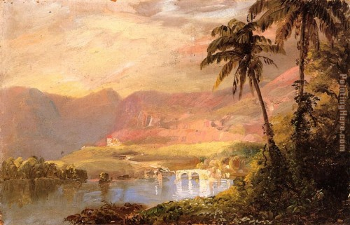 Edwin Church Frederic Tropical Landscape Painting