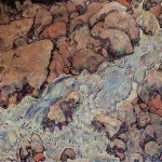 Egon Schiele Paintings Mountain Torrent Painting