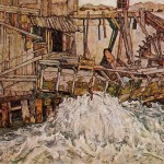 Egon Schiele Paintings The Mill Painting