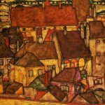 Egon Schiele Paintings Yellow City Painting