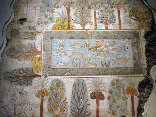 Egyptian Nature Wall Painting