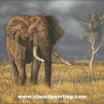 Elephant Painting Oil Reproduction