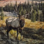 Elk Paintings Loghomeart Homestead Original Html