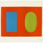Ellsworth Kelly Blue And Green Over Orange Abstract Art