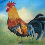 Enchanting Rooster Joins Enchanted Series Paintings The First
