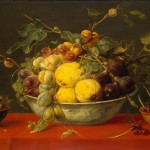 Enlarge Painting Name Fruit Bowl Red Cloth