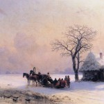 Enlarge Painting Name Winter Scene Little Russia