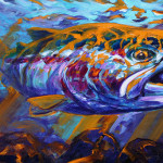 Entered Win This Large Original Painting Sol Duc Steel Link
