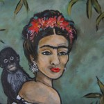Environments Frida Kahlo Bamboo Original Acrylic Painting