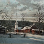 Eric Sloane Oil Painting Vermont Grafton Church From Nhantiquecoop